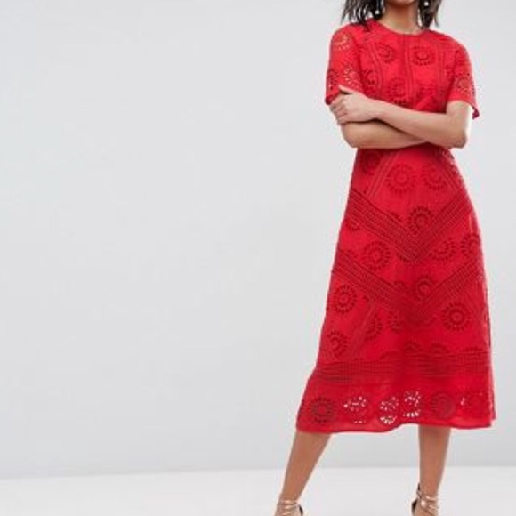 e78c6bb038ac ASOS Dresses & Skirts - ASOS Premium midi dress in broderie Fabric